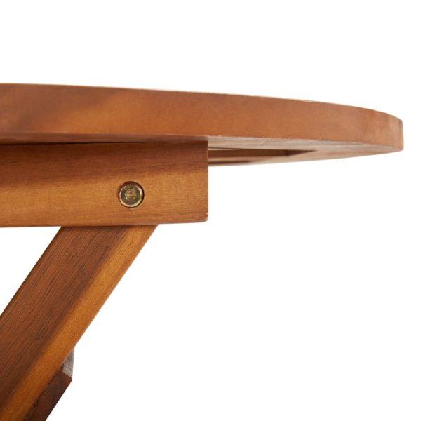 Klappbarer Gartentisch 60 x 75 cm Massivholz Akazie