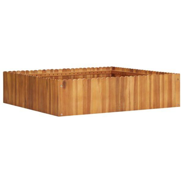 Garten-Hochbeet 100 x 100 x 25 cm Massivholz Akazie