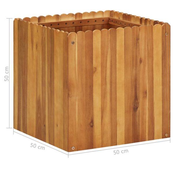 Garten-Hochbeet 50 x 50 x 50 cm Massivholz Akazie
