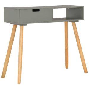 Konsolentisch Grau 80x30x72 cm Kiefer Massivholz