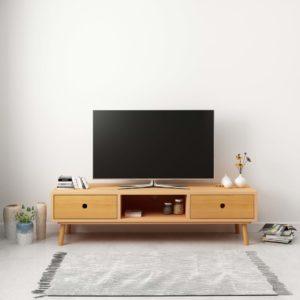TV-Schrank 120 x 35 x 35 cm Massivholz Kiefer