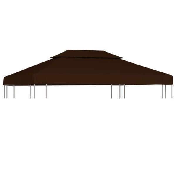 2-Stufiges Pavillondach 310 g / m² 4×3 m Braun