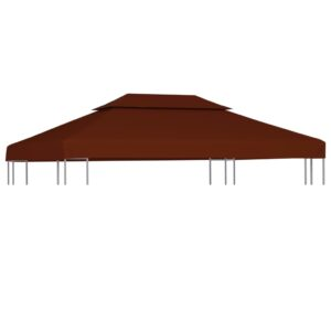 2-Stufiges Pavillondach 310 g / m² 4×3 m Terrakotta