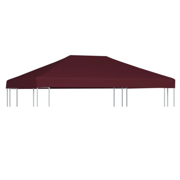 Pavillondach 310 g / m² 3×4 m Weinrot
