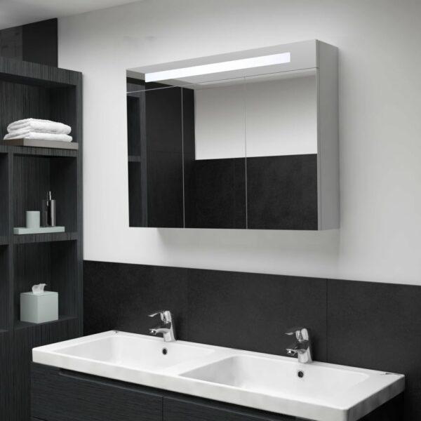LED-Bad-Spiegelschrank 88 x 13 x 62 cm