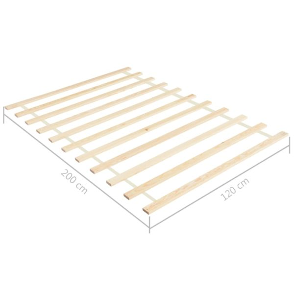 Lattenrost Rollbar mit 11 Latten 120×200 cm Kiefer Massivholz