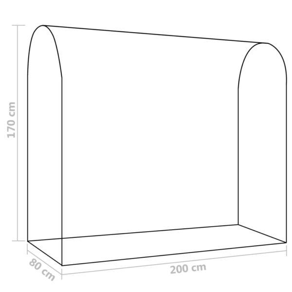 Gewächshaus mit Reißverschluss-Tür 200 x 80 x 170 cm