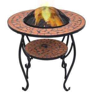 Feuerschale Mosaik Terrakotta 68 cm Keramik