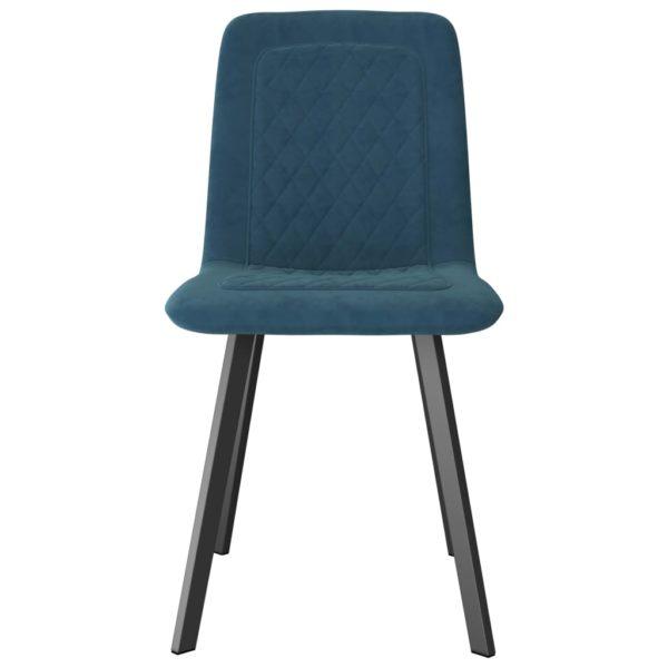 Esszimmerstühle 2 Stk. Blau Samt