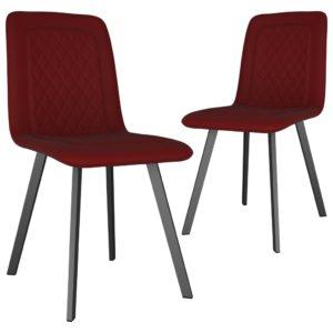 Esszimmerstühle 2 Stk. Rot Samt