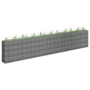 Gabionen-Hochbeet Verzinkter Stahl 450×30×90 cm
