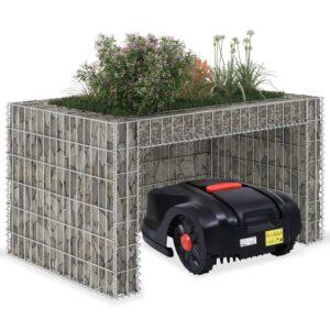 Gabionen-Hochbeet Stahldraht 110x80x60 cm