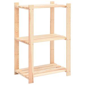 Lagerregal mit 3 Böden 60×38×90 cm Kiefer Massivholz 150 kg