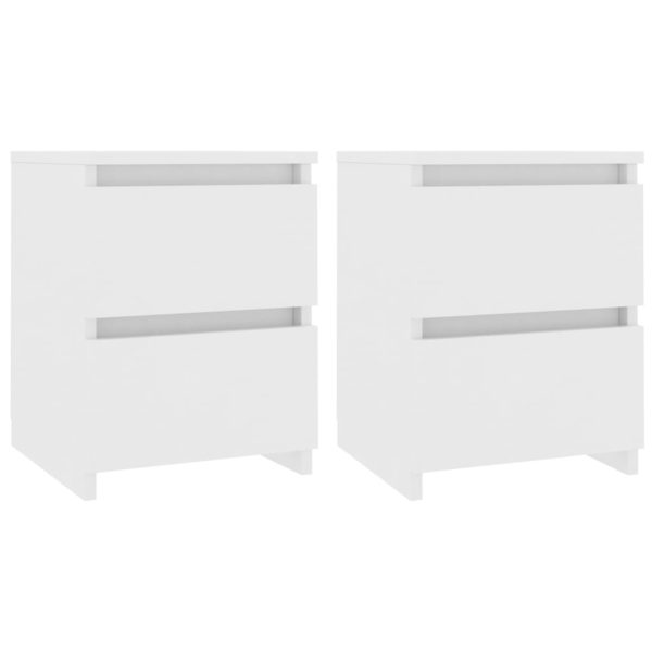 Nachttische 2 Stk. Weiß 30×30×40 cm Spanplatte