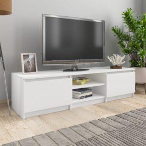 TV-Schrank Weiß 140×40×35,5 cm Spanplatte