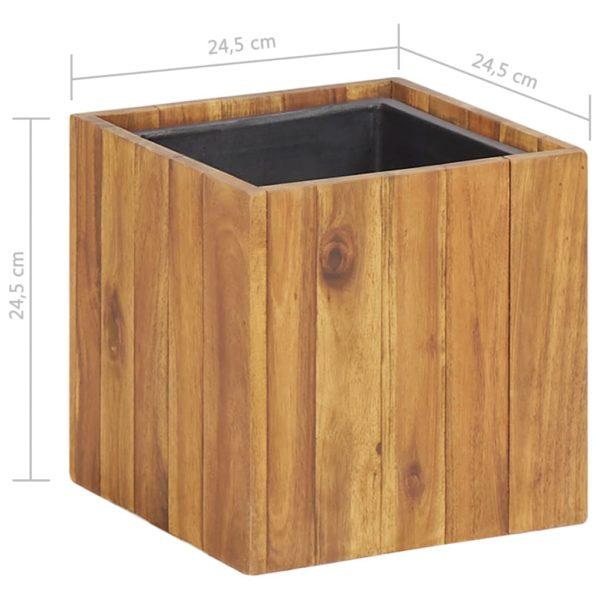 Garten-Hochbeet 24,5×24,5×24,5 cm Massivholz Akazie