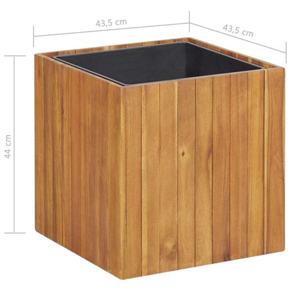 Garten-Hochbeet 43,5 x 43,5 x 43,5 cm Massivholz Akazie