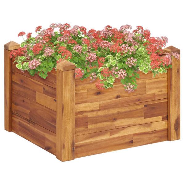 Garten-Hochbeet 60 x 60 x 44 cm Massivholz Akazie