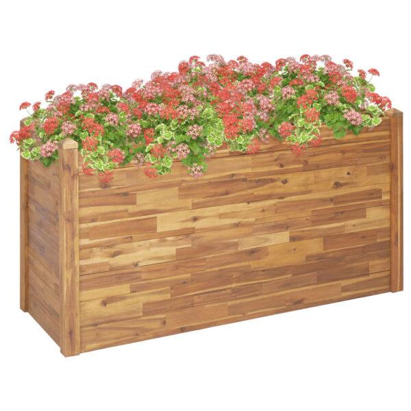 Garten-Hochbeet 160 x 60 x 84 cm Massivholz Akazie