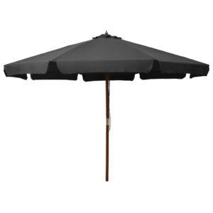 Sonnenschirm mit Holzmast 330 cm Anthrazit