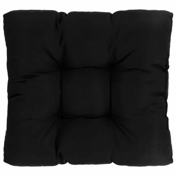Garten-Sitzkissen Schwarz 60×60×10 cm Stoff