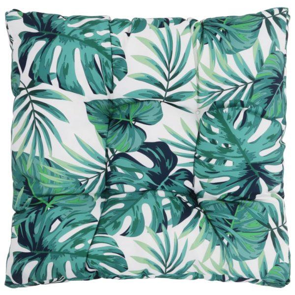 Garten-Sitzkissen Blätter 50×50×10 cm Stoff