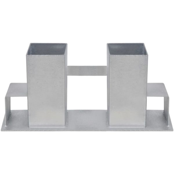 Holzstapelhalter 12 Stk. Stahl Silbern