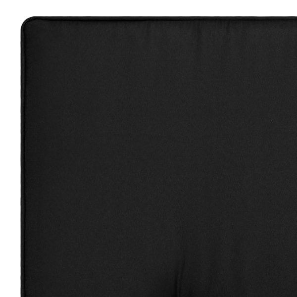 Gartenstuhl Auflage 2 Stk. Schwarz 100 x 50 x 5 cm