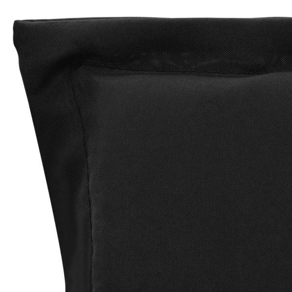 Gartenstuhl Auflage 2 Stk. Schwarz 100 x 50 x 3 cm
