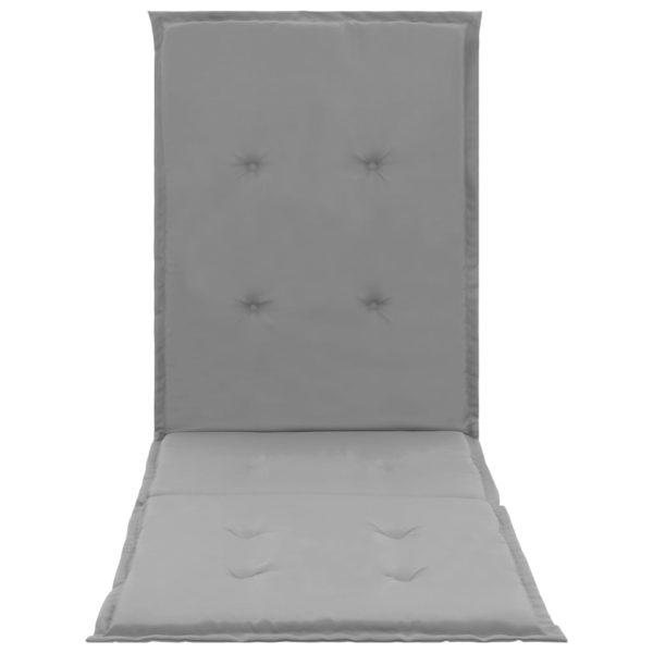 Liegestuhl-Auflage Grau 180×55×3 cm
