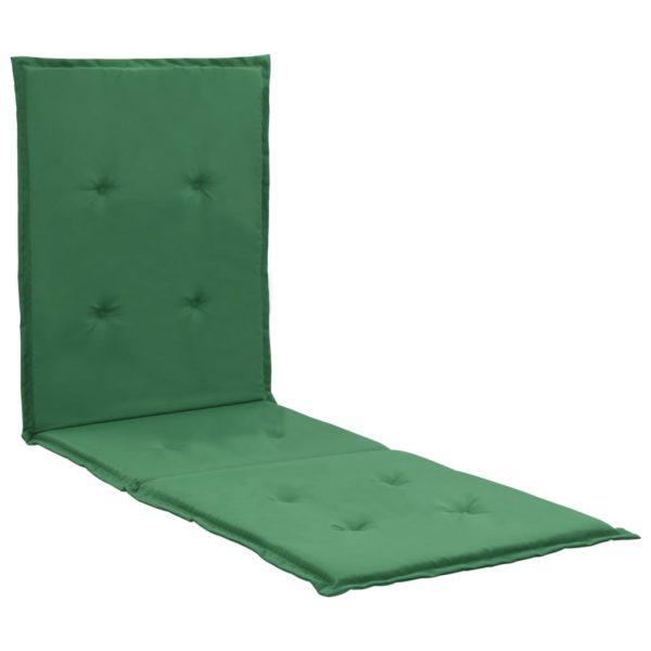 Liegestuhl-Auflage Grün 180×55×3 cm