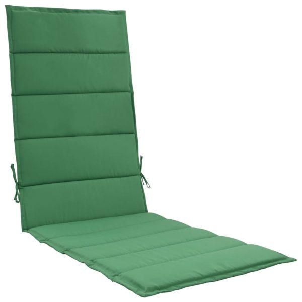 Sonnenliegen-Auflage Grün 190 x 60 x 3 cm