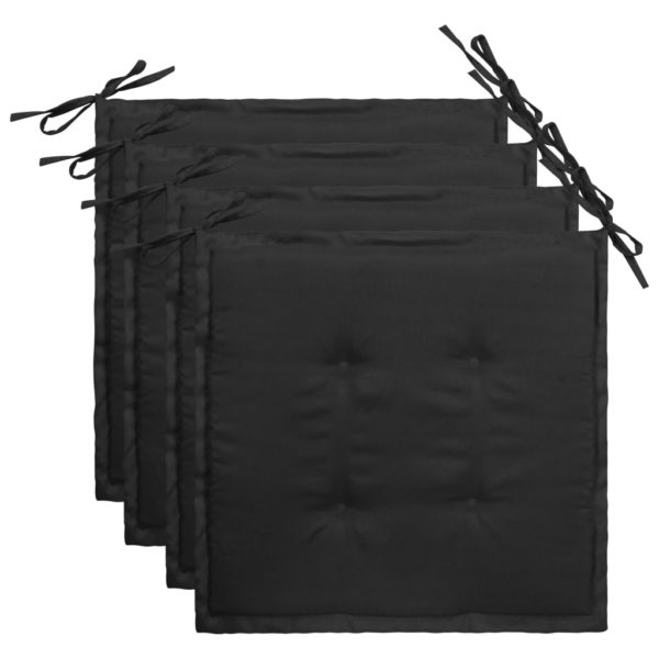 Gartenstuhl-Kissen 4 Stk. Schwarz 40×40×3 cm