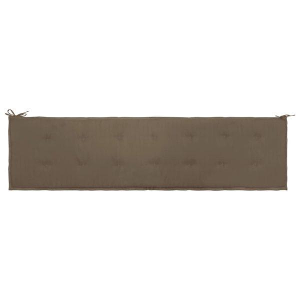 Gartenbank-Auflage Taupe 200×50×3 cm