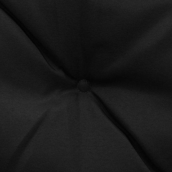 Auflage für Hollywoodschaukel Schwarz 180 cm Stoff