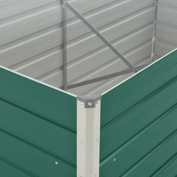 Hochbeet 160 x 80 x 45 cm Verzinkter Stahl Grün
