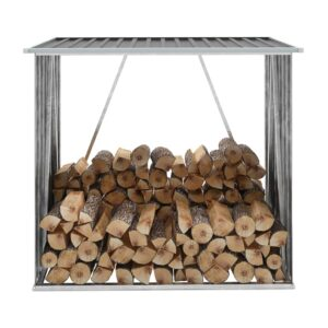 Brennholzlager Verzinkter Stahl 163 x 83 x 154 cm Anthrazit