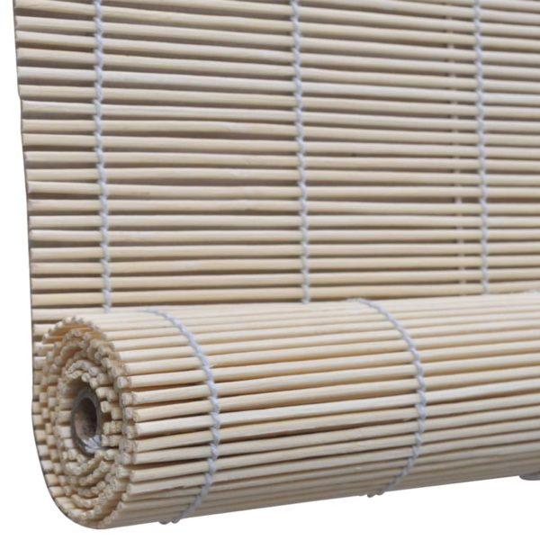 Rollos 2 Stk. Natürlicher Bambus 120 x 160 cm