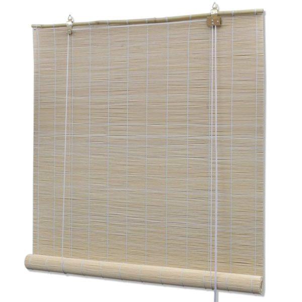Rollos 4 Stk. Natürlicher Bambus 120 x 160 cm