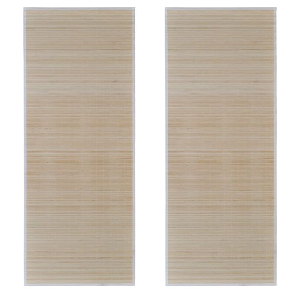 Läufer 2 Stk. Bambus Rechteckig 120×180 cm