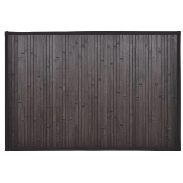 Bambus-Badezimmermatten 2 Stk. 60×90 cm Dunkelbraun