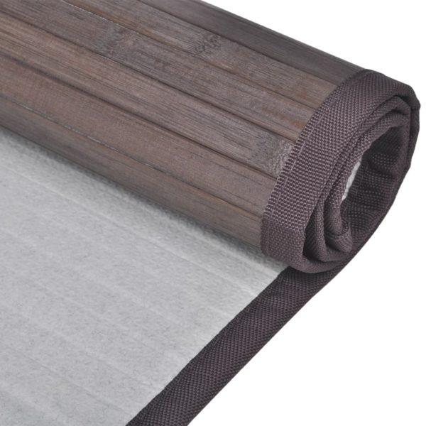 Bambus-Badematten 8 Stk. 40×50 cm Dunkelbraun