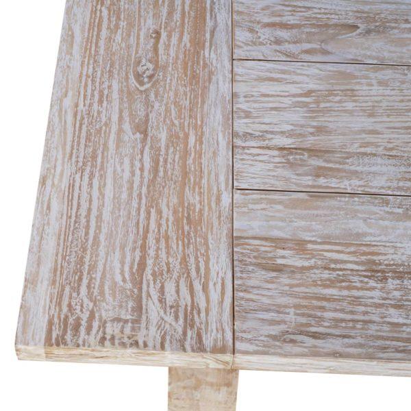 Esstisch 220 x 100 x 75 cm Massivholz Teak
