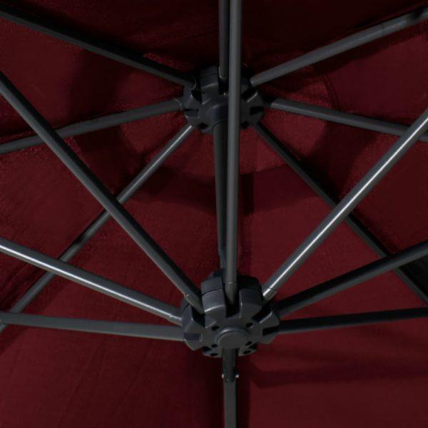 Sonnenschirm Wandmontage mit Metallmast 300 cm Burgunderrot
