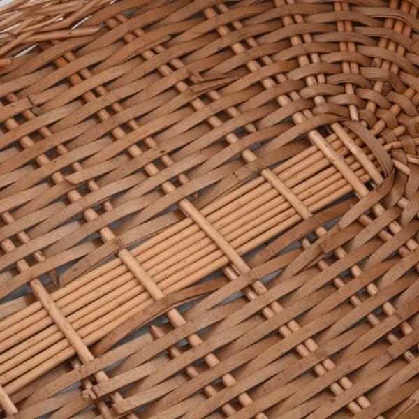 Holzkorb mit Tragegriffen 78 x 54 x 34 cm Natur Weide