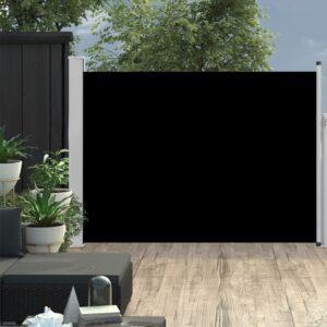 Ausziehbare Seitenmarkise 120×500 cm Schwarz