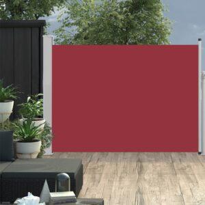 Ausziehbare Seitenmarkise 120×500 cm Rot