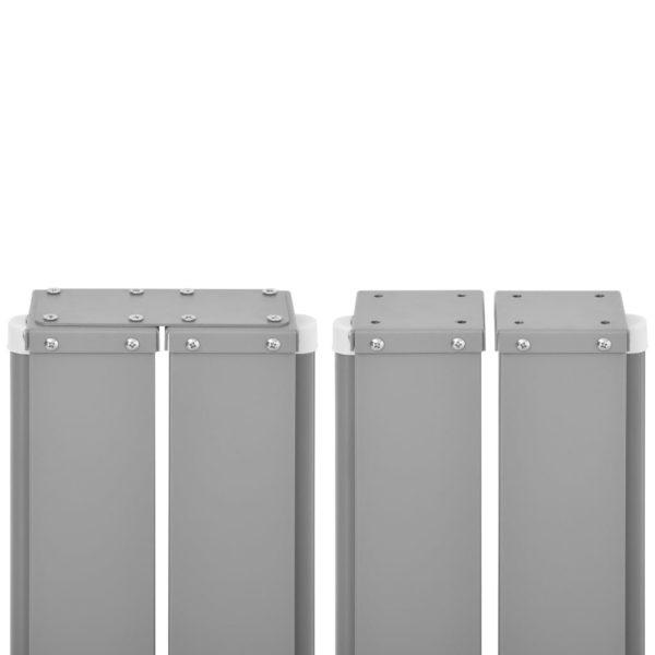 Ausziehbare Seitenmarkise Anthrazit 120 x 1000 cm