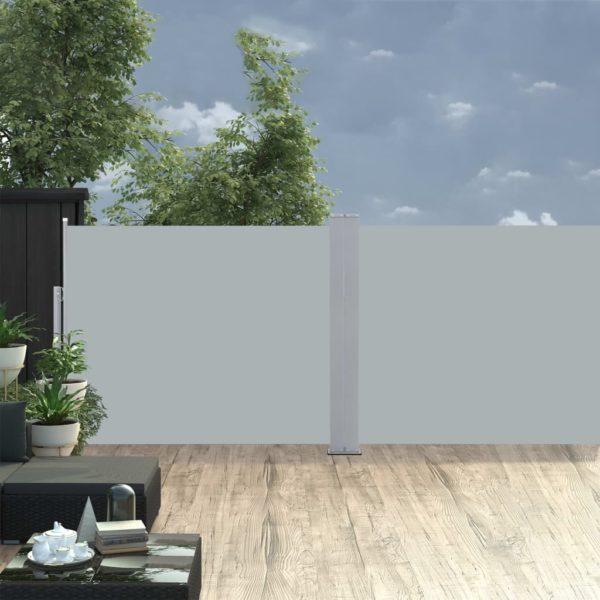Ausziehbare Seitenmarkise Anthrazit 170 x 1000 cm