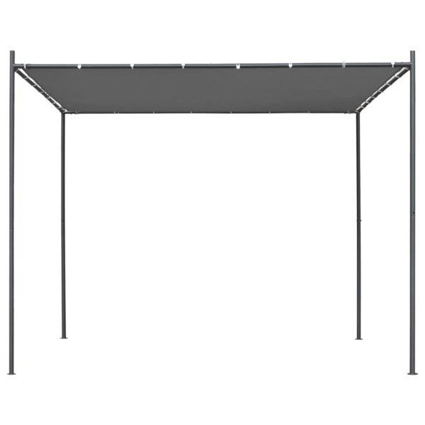 Gartenpavillon mit Flachdach 3 x 3 x 2,4 m Anthrazit